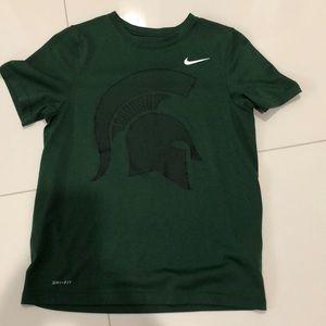 Kids Nike MSU Dri-Fit Shirt